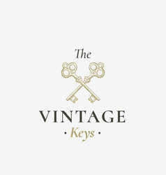 old keys sign abstract sign symbol or vector image vector image