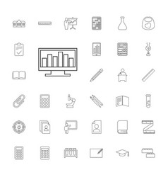 33 education icons vector