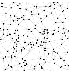 Abstract background of dots and lines vector