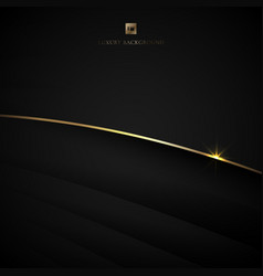 Abstract black stripe layer curved and gold bend vector
