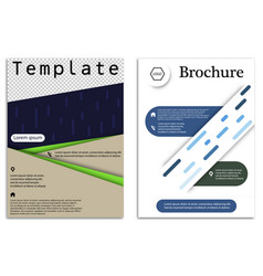 abstract business template set brochure layout vector image