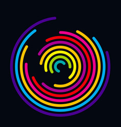 Abstract colored spiral hypnotic background vector