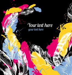 Abstract feather background vector image