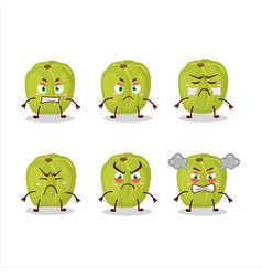Amla character with various angry expressions vector
