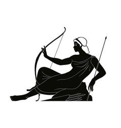 Ancient greek drawing vector