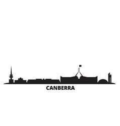 Australia canberra city skyline isolated vector