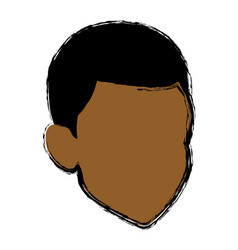 avatar male man character head default vector image