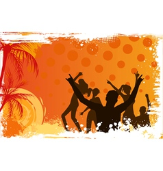 Background with dancing people vector image vector image