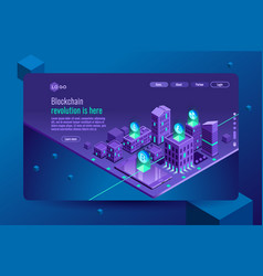 banking website template or banner vector image