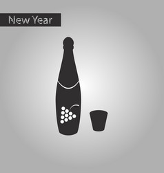 black and white style icon of champagne vector image