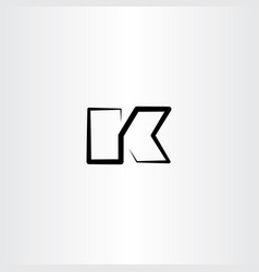 black icon line letter k logo vector image