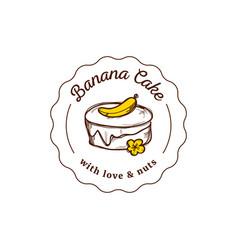 cake logo in vintage style vector image