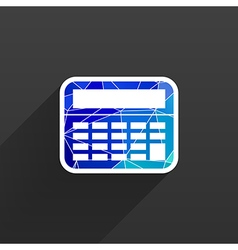 Calculator Icon isolated displa mathematics vector