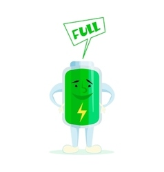 Cartoon battery charge vector image