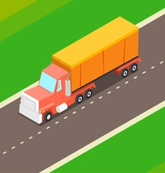 Cartoon Isometric Truck vector image