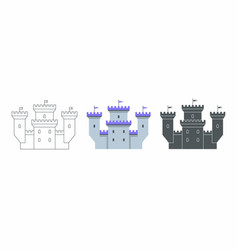 castle icon flat style vector image