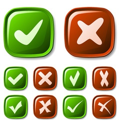 Check mark buttons collection vector
