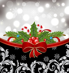 Christmas glowing packing ornamental design vector