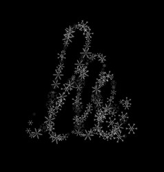 christmas tree from snowflakes on a black vector image