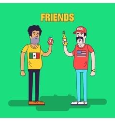 Creative of friendship between vector