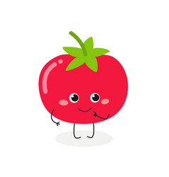 Cute cartoon tomato vector