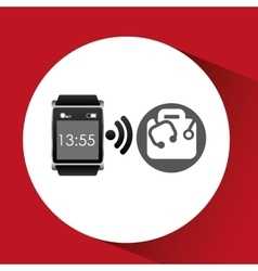 Digital smartwatch healthcare icon design vector
