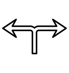 Divide Arrow Left Right Thin Line Icon vector image