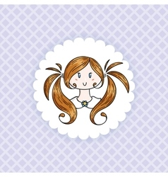 Doodle child vector image
