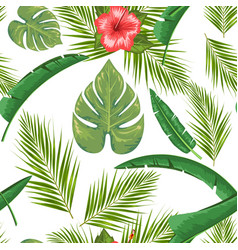 exotic abstract jungle or tropical leaf and vector image
