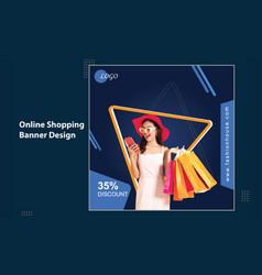 Fashion shop big sale social media banner template vector