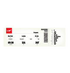flight ticket vector image