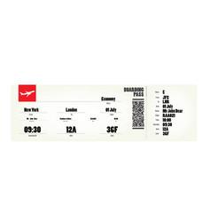 flight ticket vector image
