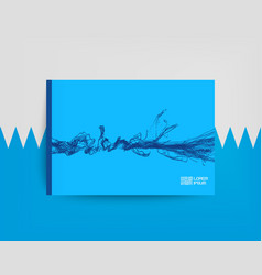 flowing particle waves textbook or notebook vector image