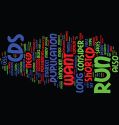 For the short or long run text background word vector