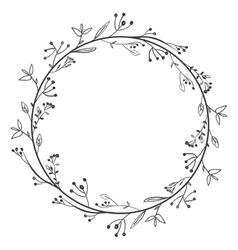 Gray scale decorative simple crown floral vector