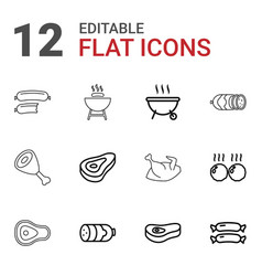 Grilled icons vector