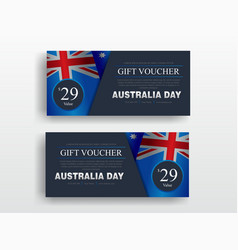 happy australia day banner set greeting card vector image