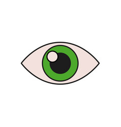 human eye vision optical look design vector image