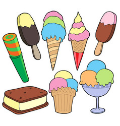 Ice cream collection vector
