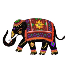 Indian elephant color vector image