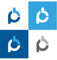 Initial letter pb logo design vector