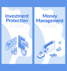 investment protection concept money management vector image