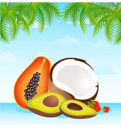 Island fruit vector