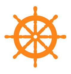 isolated ship wheel vector image