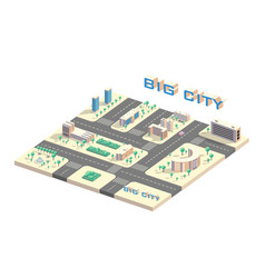isometric city map vector image