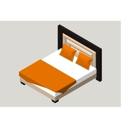 Isometric home furniture - bed Interior element vector