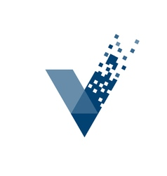 Letter v tech logo vector