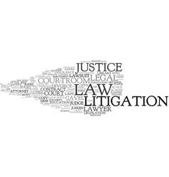 litigation word cloud concept vector image
