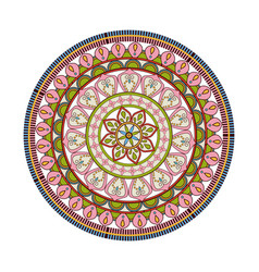 Mandala decorative round lace style vintage vector