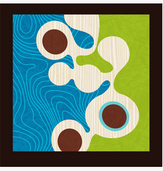 mid century abstract organic shapes vector image
